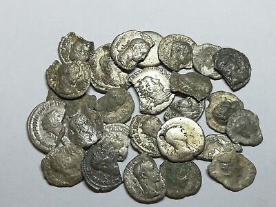 Ancient Roman Imperial Damaged Silver Denar Coins LOT - 26 pieces SEE PICTURE!!