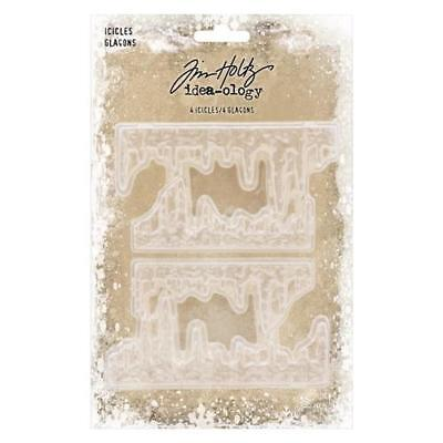 Tim Holtz Idea-Ology ~ Christmas ICICLES ~ TH93778 Pack of 4