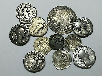 Ancient Roman Imperial & Medieval Silver Coins Mixed LOT1 - 11 ps SEE PICTURE!!