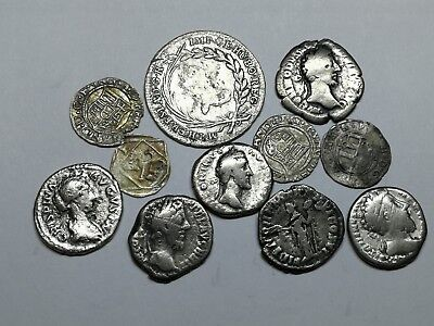 Ancient Roman Imperial & Medieval Silver Coins Mixed LOT2 - 11 ps SEE PICTURE!!