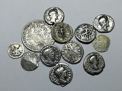 Ancient Roman Imperial & Medieval Silver Coins Mixed LOT1 - 12 pieces