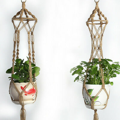 Light Brown Wall Hanging Green Plant Wall Hanging  Flower Pot Holder Ornament