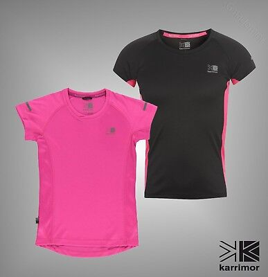 Junior Girls Karrimor Breathable Mesh Short Sleeved Running Top