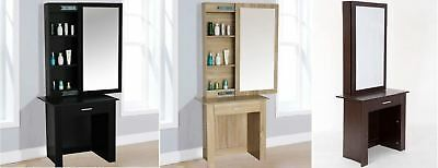 New Stylish 3 Colours Modern Sliding Mirror Dressing Vanity Table Cabinet