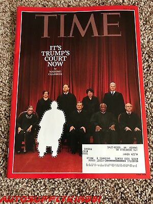 Time Magazine It's Trump's Supreme Court Now Anthony Kennedy July 9 2018 New