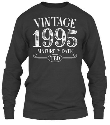 Vintage 1995 Birthday Gildan Long Sleeve Tee T-Shirt
