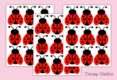 Ladybug Nursery Decals Baby Girl Wall Art Stickers Kids Room Decor Choose Color