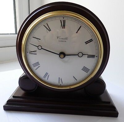 Antique Rengency Style Solid Wood Case Comitti Of London Quartz Mantle Clock