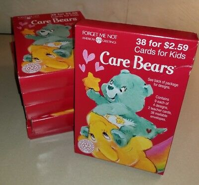 Vtg Care Bears American Greetings 38 Valentines Day Cards1995 NIP Made in USA
