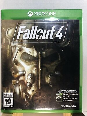 Fallout 4 (Microsoft Xbox One, 2015) Complete FREE SHIPPING