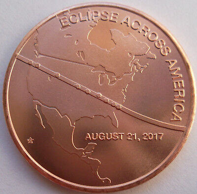 Eclipse Across America / Wind River Eclipse copper medal - very low mintage