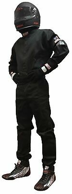 Fire Suit Sfi 1 Racing Suit 1 Piece Sfi 3.2A/1 Black Adult 4X  Imsa Scca Nasa