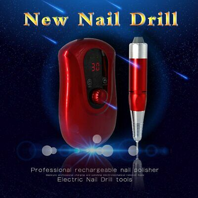 30000RPM Electric Nail Art Drill File Rechargeable Cordless Manicure Machine US