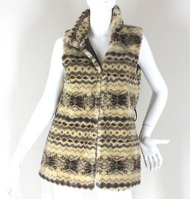 "Animal Print Vest Faux Fur ""forever 21"" Size (M) *dressy *winter"