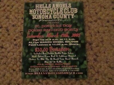 Hells Angels Collectible Sonoma Flyer