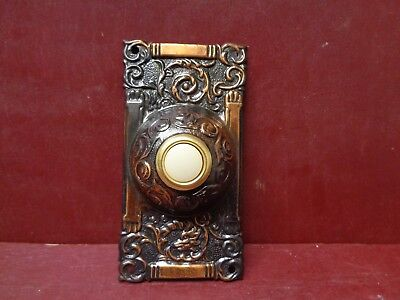 Reproduction Fox Head Columbian Brass Doorbell Button #1