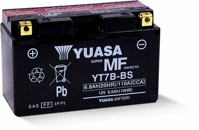 Yuasa Fresh Pack AGM Lead-Acid 12V 6.5Ah Battery 120 CCA