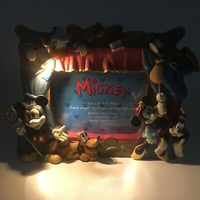 Disney Mickey Mouse Photo Frame With Lights Theater Play Mickey & Friends