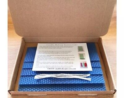 Beeswax Sheets Rolled Candle Making Kit 5 sheets Instruction, Wick Coloured Wax