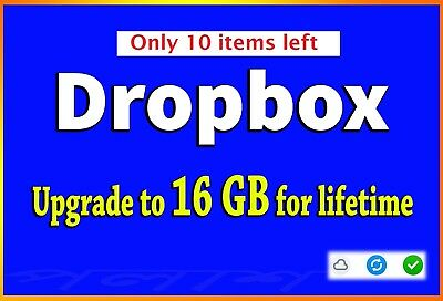 BEST SERVICE - Dropbox upgrade to 16GB lifetime space (LOW PRICE_LIMITED OFFER)