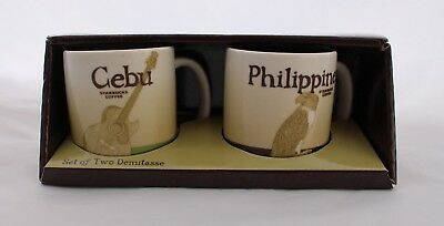 Starbucks Demitasse Cups - Philippines & Cebu - New In Box - Mug Coffee - Set