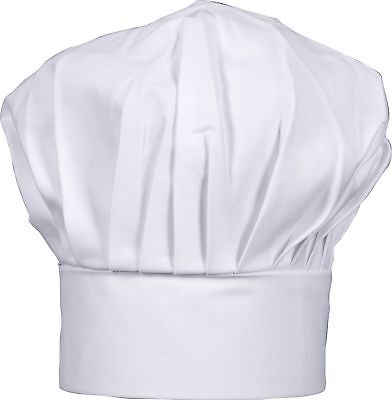 """Harold Gourmet Classics Adult Size 100% Cotton Adjustable Chef Hat - 8.5"""" Tall"""