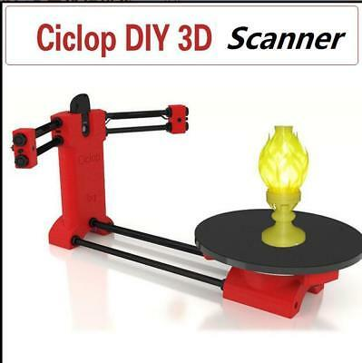 For Ciclop Printer Scan 3D Scanner DIY Kit Open Source Object Scaning Red dw
