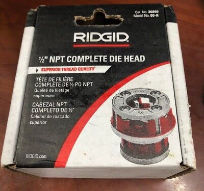 "*new* Ridgid 00-R 00R 1/2"" Npt Rigid Conduit Pipe Threading Die Head"