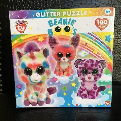 4b0d5329dfd Ty Beanie Boo Dream Club 100 Piece Glitter Kids Puzzle Wishful Cancun  Glamour