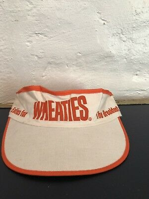 Vintage Wheaties The Breakfast Of Champions Visor Cereal Box Retro Throwback