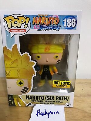 Funko Pop! Anime Naruto Shippuden Naruto Six Path #186 Hot Topic Exclusive Glow