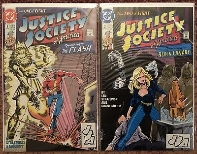 Justice Society of America 1-8, complete 1991 series, DC Comics