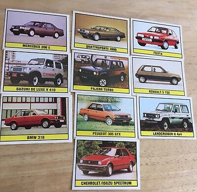 10 Figurine Panini Auto 2000 Car Stickers ( Pre-Owned) Printed In Italy