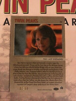 2018 Twin Peaks trading cards parallel insert #24 01/99 low print one of a kind!