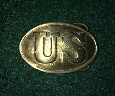 U.S. Civil War Brass US Belt Buckle - Original Period - Excellent Condition