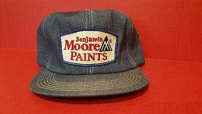 Benjamin Moore Paints Vintage Hat Snap Back Style Blue Denim K Products Denim