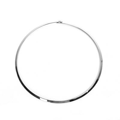 Stainless Steel Wire Collar Neck Ring Necklace Silver Tone 45.5cm long 1 Piece