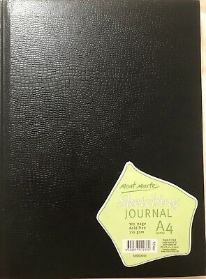 Mont Marte Sketching Journal Croc Finish 150gsm A4 Portrait 100 Page ~ FREE POST