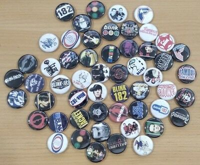 50+ Blink 182 Pins (Blink, Boxcar Racer, Famous Stars & Straps ++) - RARE - WOW!