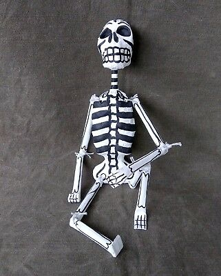 Nice Articulated Deco Day Of The Death Papier Mache Skeleton. Mexican Folk Art.