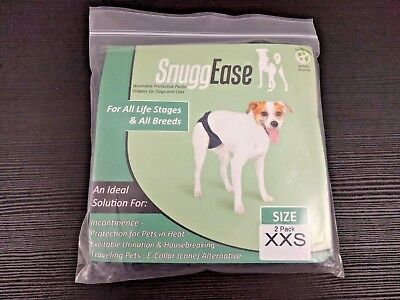 2-Pack SnuggEase XXS Washable Dog Cat Diaper Protective Incontinence Pants Pads