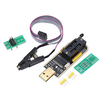 For CH341A EEPROM 24/25 Flash BIOS USB Programmer+SOIC8 Clip On-Board Replacemen