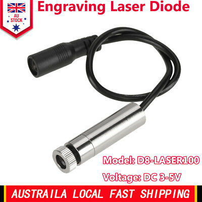 405nm 100mW Adjustable Laser Diode Engraving Emitter Blue-violet Light Durable