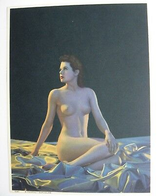 "Original Nude Calendar Top Litho ""a Perfect Exposure"""