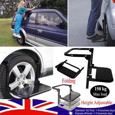 Wheel Step Folding Lift Stair Truck Car Drive Tyre Ladder 4WD Height Adjustable