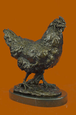 Extra Large Rooster Home Office Deco Bronze Sculpture Statue Figurine Figure T