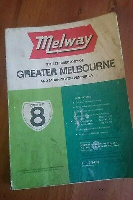 Melway Melways Greater Melbourne Street Directory  Edition 8, 1975