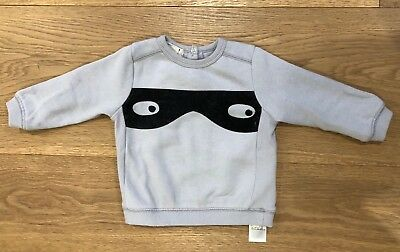 Cotton On Baby Boys Cotton Polyester Bandit Sweater Size 12-18 Months