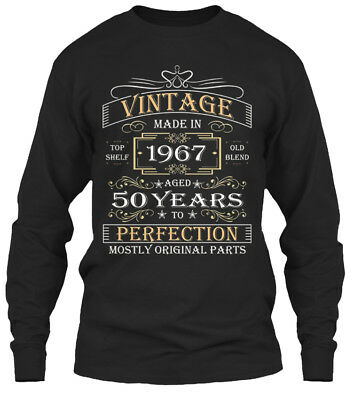 Vintage Made In 1967 Gildan Long Sleeve Tee T-Shirt