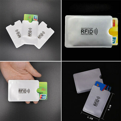 Credit Card Case Cover RFID Protector Shielded Holder Secure Blocking Sleeve CA